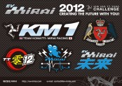 MIRAI 2012 IOM TT-zero CHALLENGEオリジナルステッカーセット