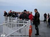 フェリー乗船時間は約3時間半。肌寒い中、甲板に出てマン島を探す乗客が多く見受けた