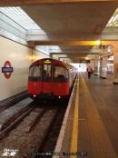 ロンドンから乗車した地下鉄。アクスブリッジまで