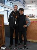 コーエン先生と藤井メカのユニホームを交換してのスナップ